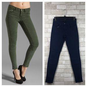 J Brand Roz Mid Rise Stitch Skinny Jeans Size 25